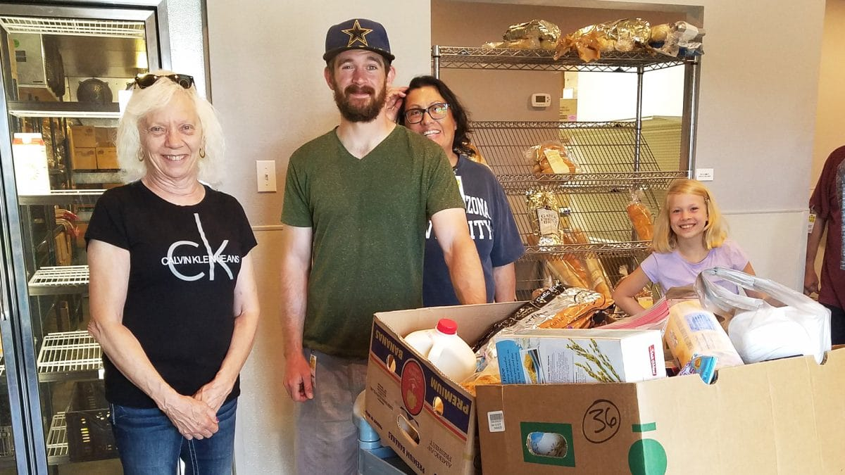 Kathy receives 160lbs of nutritious food