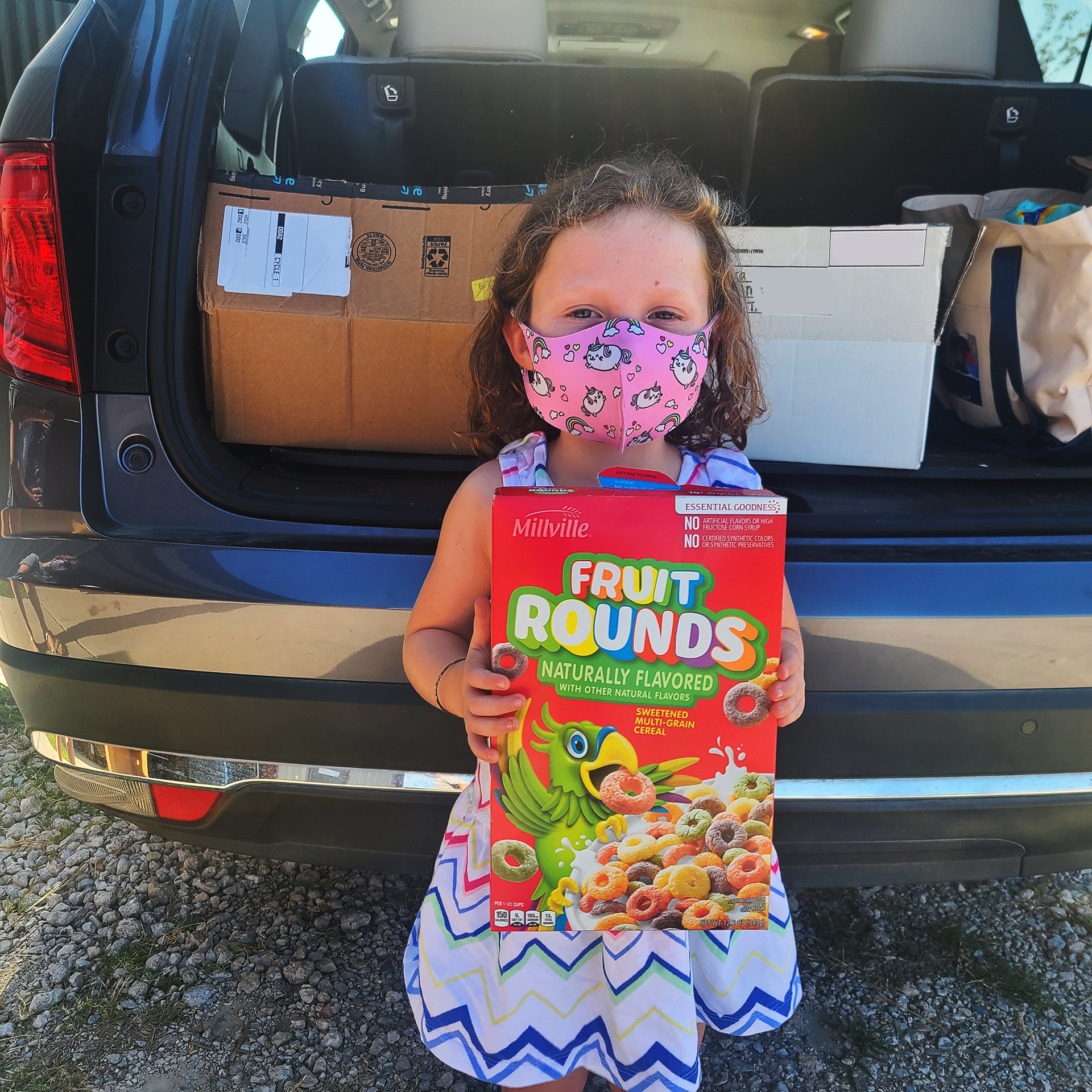 Little Brianna at Amazing Grace Food Pantry